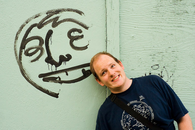 a graffiti face and me